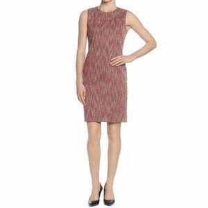 Tahari  Melon Pink Sleeveless Tweed Dress 12